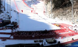 Olympic Games Alpine Ski racing finish