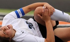 Injured female soccer player