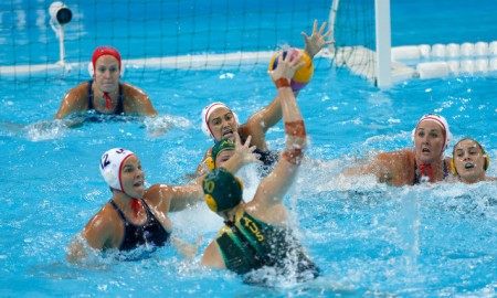 Team USA play Austraila Stingers Water Polo