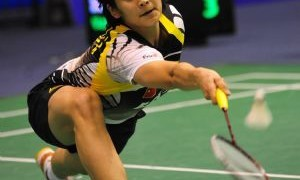 China's Wang Lin Badminton