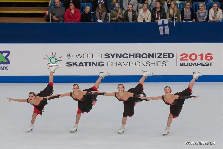 Team Russia 1 (Paradise) skated to the gold medal, winning the first World title for Russia in Synchronized Skating.