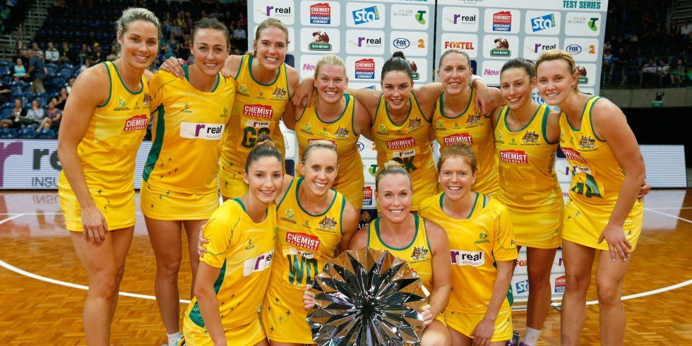 Aussie Diamonds Netball Team