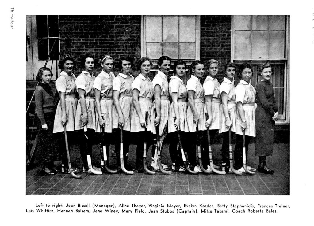 1936 Girls Hockey Team