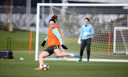 equality, stand up for equality, Manchester City's Megan Campbell in training