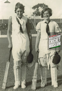 Blanche Te Rangi & Margaret after both scoring centuries, Wanganui, 1934